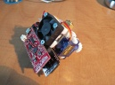 rear of the board. This is showing the ESP32 controller board by Sparkfun